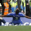 Photo -   Chelsea's Ashley Cole celebrates his goal against Stoke City during their English Premier League soccer match at Stamford Bridge, London, Saturday, Sept. 22, 2012. (AP Photo/Sang Tan)