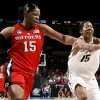 Rutgers\' Kia Vaughn, left, and Purdue\'s Danielle Campbell go for the ball during the NCAA women\'s basketball tournament game between Rutgers and Purdue at the Ford Center in Oklahoma City, Sunday, March 29, 2009. PHOTO BY BRYAN TERRY, THE OKLAHOMAN
