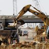 Construction progress on Broadway Extension widening and interchange project at Memorial Road, Tuesday, February 3, 2009. BY JIM BECKEL, THE OKLAHOMAN ORG XMIT: KOD