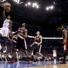 Oklahoma City\'s Serge Ibaka (9) dunks the ballduring the NBA basketball game between the Oklahoma City Thunder and the Portland Trailblazers at Chesapeake Energy Arena in Oklahoma City, Sunday, March 18, 2012. Photo by Sarah Phipps, The Oklahoman.