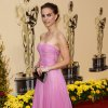 ** LINDA MILLER\'S COMMENTARY: Great color. A vision in orchid. ** Actress Natalie Portman arrives for the 81st Academy Awards Sunday, Feb. 22, 2009, in the Hollywood section of Los Angeles. (AP Photo/Matt Sayles) ORG XMIT: CAES137