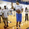 Andre Roberson participates in drills during the Thunder Youth Basketball mini-camp following a press conference at the Thunder Events center, Saturday, July 29, 2013. Photo by Sarah Phipps, The Oklahoman