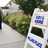 A voter walks into polling site near SE 15 and Post Road in Midwest City to vote on county bond issues Tuesday morning, May 13, 2008. By 9:15 am, 71 voters had cast ballots. BY JIM BECKEL, THE OKLAHOMAN