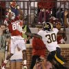 Oklahoma\'s Ryan Broyles (85) catches a touchdown pass in front of Missouri\'s Keronte Walker (30) during the college football game between the University of Oklahoma Sooners (OU) and the University of Missouri Tigers (MU) at the Gaylord Family-Memorial Stadium on Saturday, Sept. 24, 2011, in Norman, Okla. Photo by Chris Landsberger, The Oklahoman