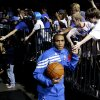 Oklahoma City\'s Russell Westbrook runs onto the court before Game 2 in the second round of the NBA playoffs between the Oklahoma City Thunder and L.A. Lakers at Chesapeake Energy Arena in Oklahoma City, Wednesday, May 16, 2012. Photo by Bryan Terry, The Oklahoman