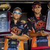 Oklahoma State University\'s Blake Flurry of Roland, left, and Zack Birge of Blanchard won the 2012 Bassmaster College National Championship. Photo provided by BASS
