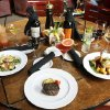 These are specialties at Lottinville\'s Restaurant in Edmond, OK, Thursday, May 7, 2009. From left are a Sashimi Tuna Salad, a Private Reserve Chicago Stockyard Fillet, and a Tropical salad with shrimp. BY PAUL HELLSTERN, THE OKLAHOMAN