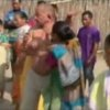 In this image taken from video obtained from Network 1 News and Information Syndicate (NNIS), which has been authenticated based on its contents and other AP reporting, Bikram Singh Brahma, center, a leader of India\'s ruling Congress party, is slapped by a woman in the village of Santipur, India, on Thursday, Jan. 3, 2013. Police said Brahma was visiting the village of Santipur on the Bhutan border when he entered a woman\'s house and raped her at 2 a.m. In a sign that attitudes might be changing since the rape of a 23-year-old woman in New Delhi, who died of severe internal injuries over the weekend, police have arrested Brahma. (AP Photo/NNIS)