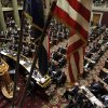 Missouri Gov. Jay Nixon delivers the annual State of the State address to a joint session of the House and Senate Monday, Jan. 28, 2013, in Jefferson City, Mo. (AP Photo/Jeff Roberson)