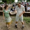 Victoria and Roman Brown dance during a concert with Son Del Barrio at Andrews Park, Sunday, July 27, 2008, in Norman, Okla. SARAH PHIPPS, THE OKLAHOMAN