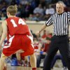 Jason Frantz officiates during the Class B Boys semi-final game of the state high school basketball tournament between Big Pasture and Arnett at the State Fair Arena., Friday, March 1, 2013. Photo by Sarah Phipps, The Oklahoman