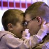 Private First Class Ian Gleason holds his cousin Cody Tedder during the return ceremony for the National Guard\'s 45th Infantry Brigade Combat Team at the Army Aviation hanger at Will Rogers Air National Guard Base Sunday, March 25th, 2012. PHOTO BY HUGH SCOTT, FOR THE OKLAHOMAN
