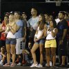 Fans fill in at the half court for the semi and finals of the finals during the Red Bull King of the Rock 1-on-1 basketball tournament at The Cage in downtown Oklahoma City Saturday, July 12, 2014. Godbold won the championship. Photo by Doug Hoke, The Oklahoman