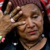 A supporter of Venezuela\'s President Hugo Chavez cries as she attends a celebration marking his return to his country at Bolivar square in Caracas, Venezuela, Monday, Feb. 18, 2013. Chavez returned to Venezuela early Monday after more than two months of medical treatment in Cuba following cancer surgery, and was being treated at the Caracas\' military hospital, his government said. (AP Photo/Fernando Llano)