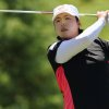 Photo - Shanshan Feng watches her tee shot on the fifth hole during the third round of the Manulife Financial LPGA Classic golf tournament Saturday, June 7, 2014 in Waterloo, Ontario. (AP Photo/The Canadian Press, Dave Chidley)