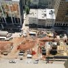 Construction is proceeding on the Sandridge Energy grounds in downtown Oklahoma City. SandRidge announced Monday the building being built at 120 Robert S. Kerr Ave. shown in this photo, will be redesigned from employee amenities to leasable office space. PAUL HELLSTERN - Oklahoman