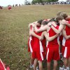 The Boys team from Oklahoma Christian Schools prays before their 3A race, during the State Cross County meet for Classes 2A and 3A at Gordon Cooper Vo-Tech in Shawnee, OK, Saturday, Oct. 23, 2010. By Paul Hellstern, The Oklahoman ORG XMIT: KOD