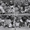 This sequence shows Notre Dame\'s touchdown from the 1957 game. Notre Dame's Dick Lynch scored with 3:50 left in the game and the Irish won 7-0. COURTESY OF UNIVERSITY OF OKLAHOMA SPORTS INFORMATION