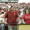 Shawn Browning, center, and Karen Sibley of Moore, OKla., watch after OU\'s loss to Colorado during the college football game between the University of Oklahoma Sooners (OU) and the University of Colorado Buffaloes (CU) at Folsom Field on Saturday, Sept. 28, 2007, in Boulder, Co. By Bryan Terry, The Oklahoman