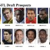 ** FOR USE AS DESIRED WITH NFL DRAFT STORIES ** FILE - In these university handouts and file photos top college football prospects for the 2009 NFL Draft are shown. They are : Robert Ayers, Rhett Bomar, Andre Brown, Donald Brown, Everette Brown, Darius Butler, Antoine Caldwell, James Casey, Chase Coffman, Emanuel Cook, Jared Cook and Michael Crabtree. (AP Photo) ** MAGS OUT. NO SALES, EDITORIAL USE ONLY ** ORG XMIT: NY154