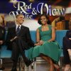 "Photo -   President Barack Obama and first lady Michelle Obama appear on the ABC Television show ""The View"" in New York, Monday, Sept. 24, 2012. (AP Photo/Pablo Martinez Monsivais)"