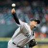 Seattle Mariners starting pitcher Felix Hernandez throws against the Houston Astros in the first inning during a baseball game on Sunday, July 21, 2013, in Houston. (AP Photo/Bob Levey)