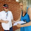 Charlotte Smith, right, of Oklahoma City signs a petition in support of convicted murderer Jerome Ersland as Terry Short of Midwest City looks on outside of Reliable Pharmacy, 5900 S Penn, in Oklahoma City, Thursday, June 2, 2011. Photo by Nate Billings, The Oklahoman