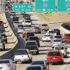Above left: Traffic travels north on Interstate 235 at Interstate 44 during rush hour Wednesday in Oklahoma City. PHOTO BY DOUG HOKE, THE OKLAHOMAN