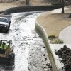 Workers remove debris from the Bricktown Canal in Oklahoma City, January 18, 2012. Photo By Steve Gooch, The Oklahoman