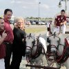 Mark and Cherry Bell pose for a picture in front of the University of Oklahoma mascot Welsh ponies Boomer and Sooner during the Sooner Caravan stop at the Hyatt Wichita. The Bell\'s son is OU quarterback Blake Bell. Blake Bell was there with head coach Bob Stoops and a few other coaches. Bell is a Wichita native and Bishop Carroll graduate. (June 19, 2013) Photo by Jaime Green, The Wichita Eagle ORG XMIT: B73183861Z.1