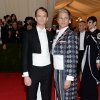"""Neil Patrick Harris, left, and David Burtka attend The Metropolitan Museum of Art\'s Costume Institute benefit gala celebrating """"Charles James: Beyond Fashion"""" on Monday, May 5, 2014, in New York. (Photo by Evan Agostini/Invision/AP)"""