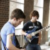 ACM@UCO student guitarists Joshua Qualls and Dwight Hamlin playing on the guitar during an announcement Monday, May 14, 2012, that Van Halen will perform Sept. 15 at Chesapeake Energy Arena. Photo by Paul B. Southerland, The Oklahoman