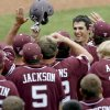 Photo - Texas A&M's Matt Juengel, center, celebrates with teammates after hitting a home run against Texas on Saturday. A conference realignment into the SEC would greatly impact the Aggies and many other baseball programs in the Big 12. PHOTO BY BRYAN TERRY, THE OKLAHOMAN