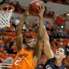 Oklahoma State\'s Le\'Bryan Nash (2) grabs the ball in front of Texas-San Antonio\'s Jeromie Hill (12) during an NCAA college basketball game between the Oklahoma State University Cowboys (OSU) and the University of Texas-San Antonio Roadrunners at Gallagher-Iba Arena in Stillwater, Okla., Wednesday, Nov. 16, 2011. Photo by Bryan Terry, The Oklahoman