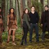 This undated publicity photo released by Summit Entertainment shows, from left, Judith Shekoni, Tracey Heggins, Kristen Stewart, Robert Pattinson, Christian Camargo, Peter Facinelli and Casey LaBow in a scene from the film,