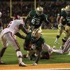 Baylor running back Terrance Ganaway (24) breaks into the end zone for a touchdown in front of Oklahoma quarterback Ben Sherrard (6) in the second half of an NCAA college football game, Saturday, Nov. 19, 2011, in Waco, Texas. Baylor won 45-38. (AP Photo/Tony Gutierrez) ORG XMIT: TXTG219