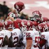 The OU Sooners gather together before a college football game between the University of Oklahoma (OU) and Texas Tech University at Jones AT&T Stadium in Lubbock, Texas, Saturday, Oct. 6, 2012. OU won, 41-20. Photo by Nate Billings, The Oklahoman