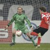 Mainz\'s Nicolai Mueller scores his side\'s 2nd goal past Schalke goalkeeper Timo Hildebrand during the German soccer cup match between FC Schalke 04 and FSV Mainz 05 in Gelsenkirchen Tuesday, Dec. 18, 2012. (AP Photo/Martin Meissner)