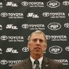 Photo - John Idzik talks to the media during an NFL football news conference introducing him as the new new general manager of the New York Jets, Thursday, Jan. 24, 2013, in Florham Park, N.J. (AP Photo/Julio Cortez)