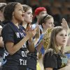 Oktaha Tigers\' fan Lanessa Grayson, left, cheers on her team during the first round 2A boys State Basketball Championship game between Northeast High School and Oktaha High School at the State Fair Arena on Thursday, March 8, 2012 in Oklahoma City, Okla. Photo by Chris Landsberger, The Oklahoman