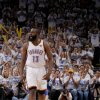 Oklahoma City\'s James Harden (13) reacts during Game 2 of the NBA Finals between the Oklahoma City Thunder and the Miami Heat at Chesapeake Energy Arena in Oklahoma City, Thursday, June 14, 2012. Photo by Sarah Phipps, The Oklahoman