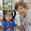 Mercy Tasi, 2, poses for a photo with Sister Mary Clotilda Toelle who is celebrating her 100 birthday at The Mercy Convent next to Mercy Hospital, Wednesday, June 27, 2012. Mercy\'s mother worked at the hospital and she was named after it. Photo By David McDaniel/The Oklahoman