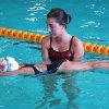 Swimmer Jilly Wagner practices her streamline with coach Rachel Reed. Community Photo By: Beth Dunn Submitted By: Beth,