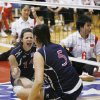 The USA\'s Kendra Lancaster (15), left, and Katie Holloway (5) celebrate a point during the sitting volleyball match between the USA and China at the University of Central Oklahoma Sitting Volleyball World Challenge in the UCO Wellness Center in Edmond, Okla., Tuesday, Dec. 4, 2007. By Nate Billings, The Oklahoman