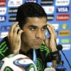 Photo - Mexico's soccer team captain Rafael Marquez attends a news conference before training for the World Cup in the Arena das Dunas in Natal, Brazil, Thursday, June 12, 2014. (AP Photo/Sergei Grits)
