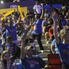 Fans cheer at Love\'s Thunder Alley, Monday, April 30, 2012. Photo by Garett Fisbeck, For The Oklahoman