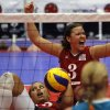 USA / UNITED STATES / U.S./ UNIVERSITY OF CENTRAL OKLAHOMA: Brenda Maymon of the US women\'s team cheers after receiving a point. The Sitting Volleyball World Championships took place at UCO on Saturday July 17, 2010. Photo by Mitchell Alcala, The Oklahoman ORG XMIT: KOD