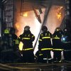 Photo - Firefighters work to extinguish a fire at the Iron Mountain warehouse in Buenos Aires, Argentina, Wednesday, Feb. 5, 2014. Seven first-responders were killed in the fire that destroyed an archive of bank documents, according to authorities. (AP Photo/Telam, Daniel Dabove)