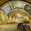This undated photo provided by the Museum of the City of New York shows tile vaulting by the Gustavino company in New York\'s old City Hall Subway Station. Rafael Guastavino and his son Rafael Jr., are the subjects of the new exhibition