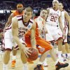 Oklahoma\'s Blake Griffin (23) drives the ball past Syracuse\'s Eric Devendorf (23) during the first half of the NCAA Men\'s Basketball Regional at the FedEx Forum on Friday, March 27, 2009, in Memphis, Tenn. PHOTO BY CHRIS LANDSBERGER, THE OKLAHOMAN